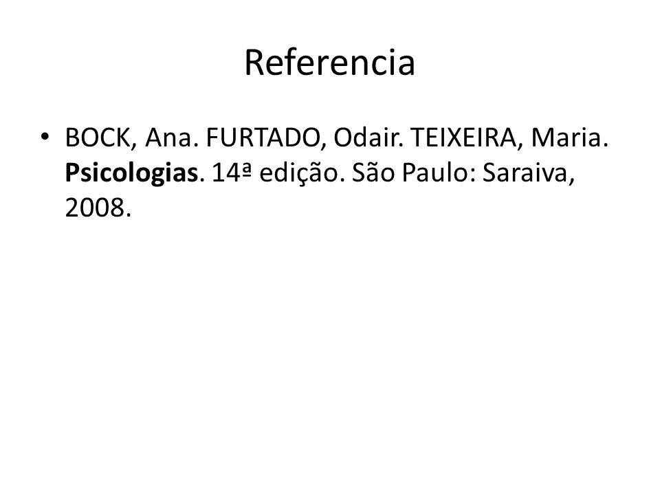 Referencia BOCK, Ana. FURTADO, Odair. TEIXEIRA, Maria.