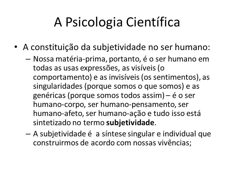 A Psicologia Científica