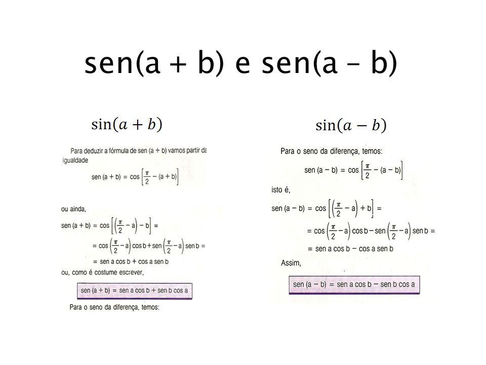 sen(a + b) e sen(a – b)