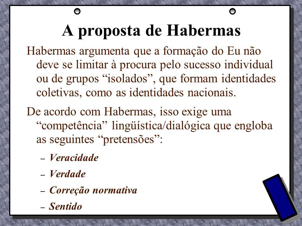 A proposta de Habermas