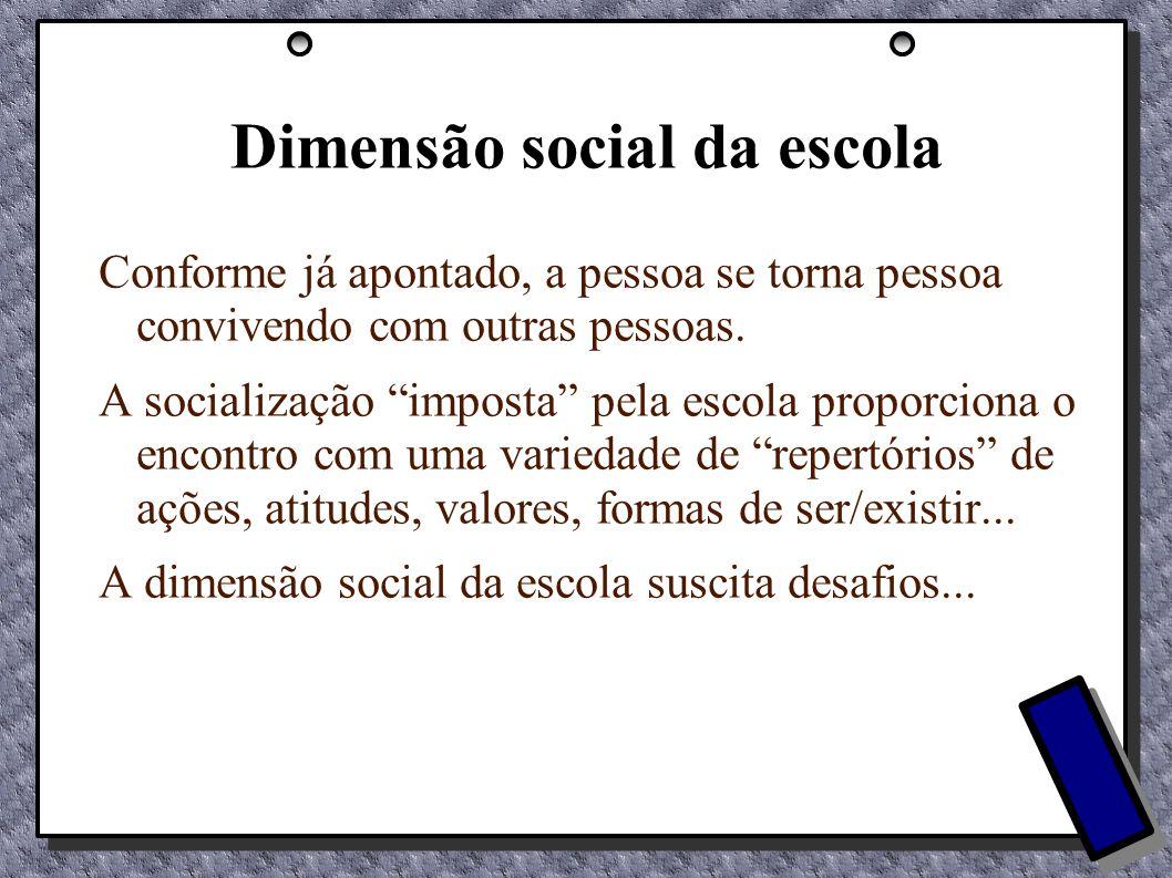 Dimensão social da escola