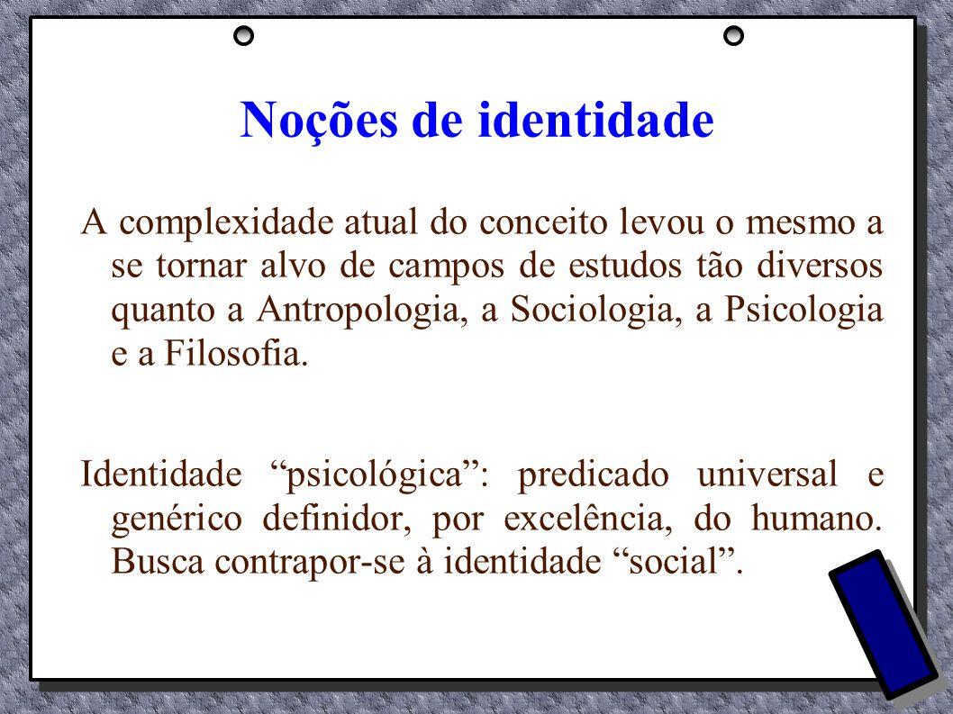 Noções de identidade