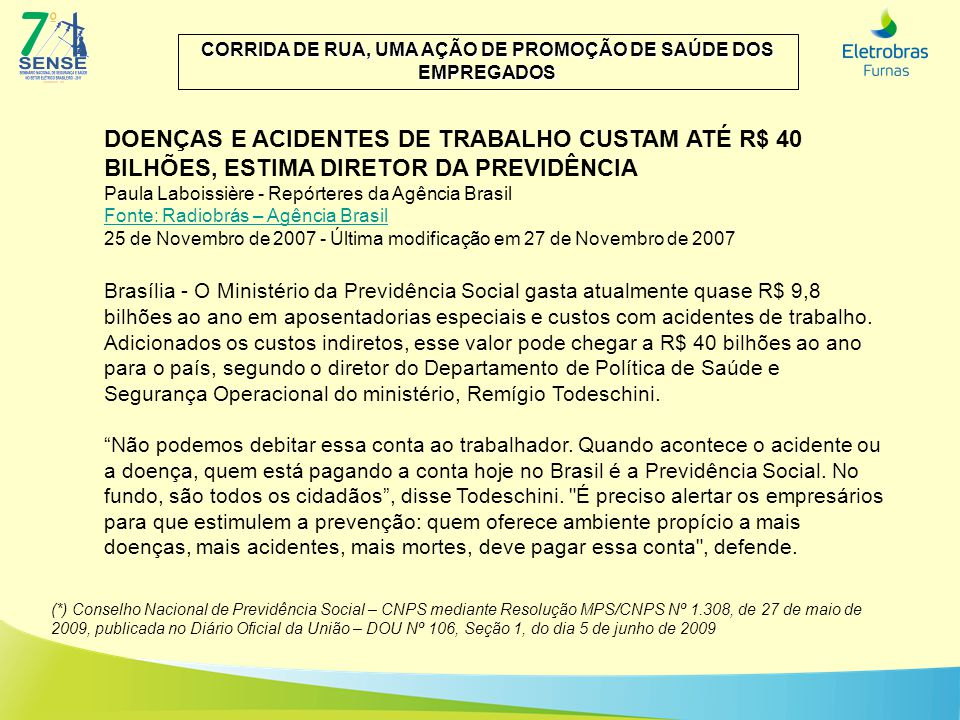CORRIDA DE RUA, UMA AÇÃO DE PROMOÇÃO DE SAÚDE DOS EMPREGADOS