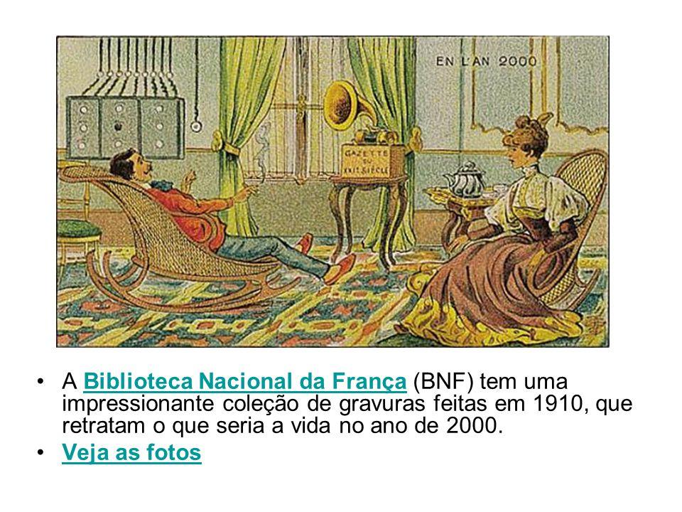 A Biblioteca Nacional da França (BNF) tem uma impressionante coleção de gravuras feitas em 1910, que retratam o que seria a vida no ano de 2000.