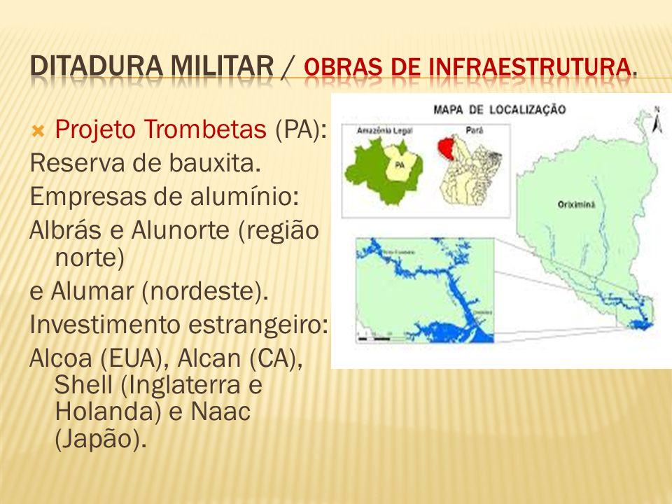 ditadura militar / obras de infraestrutura.