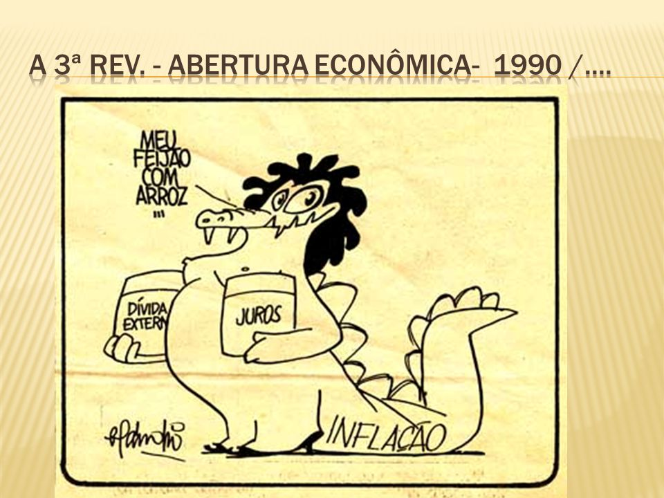 A 3ª rev. - Abertura econômica- 1990 /....