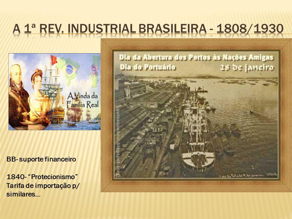 A 1ª rev. Industrial Brasileira - 1808/1930