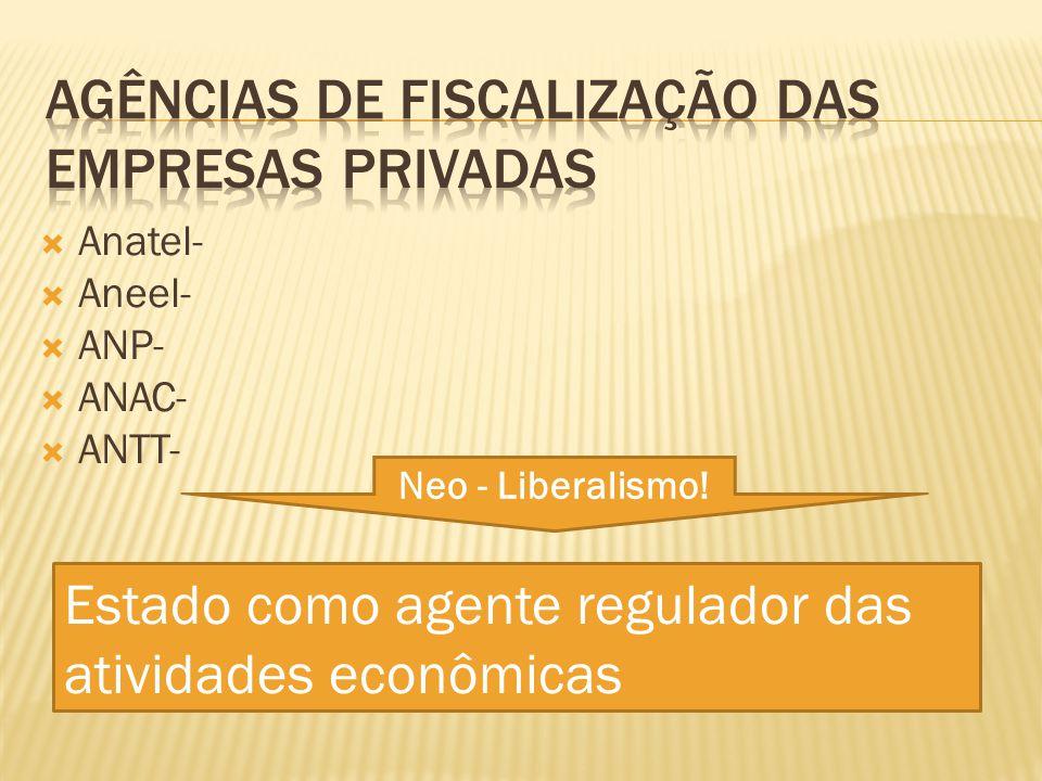 Agências de fiscalização das empresas privadas