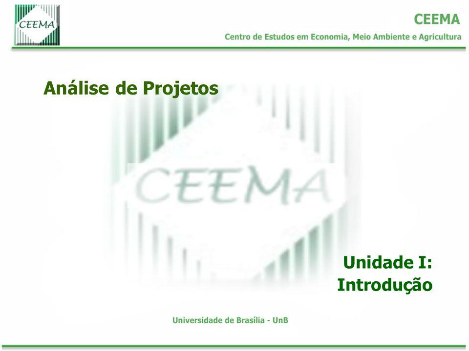 Análise de Projetos Unidade I: Introdução