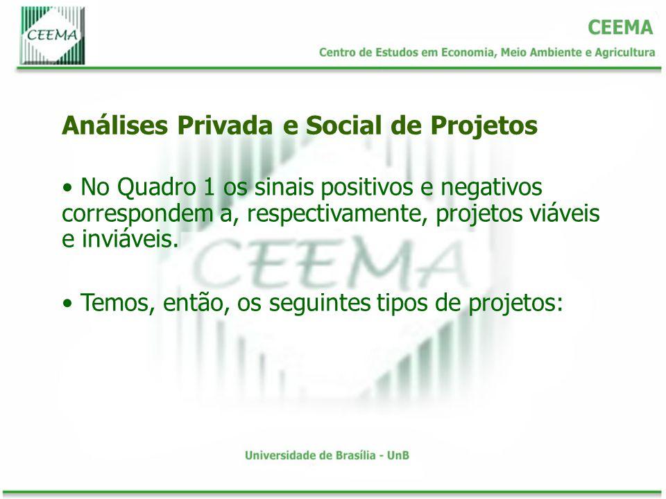 Análises Privada e Social de Projetos