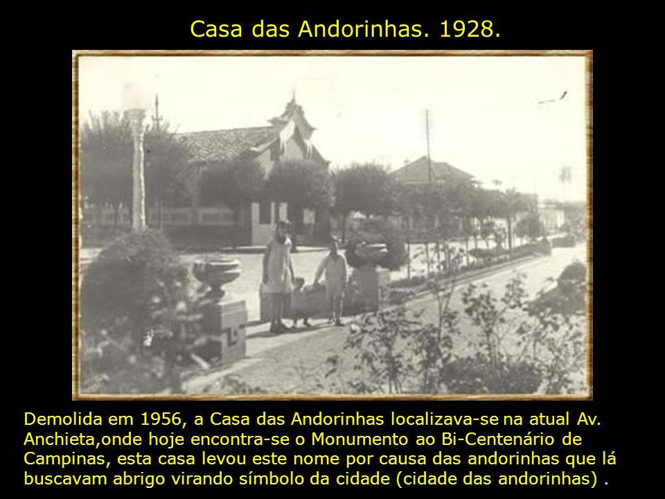 Casa das Andorinhas. 1928.