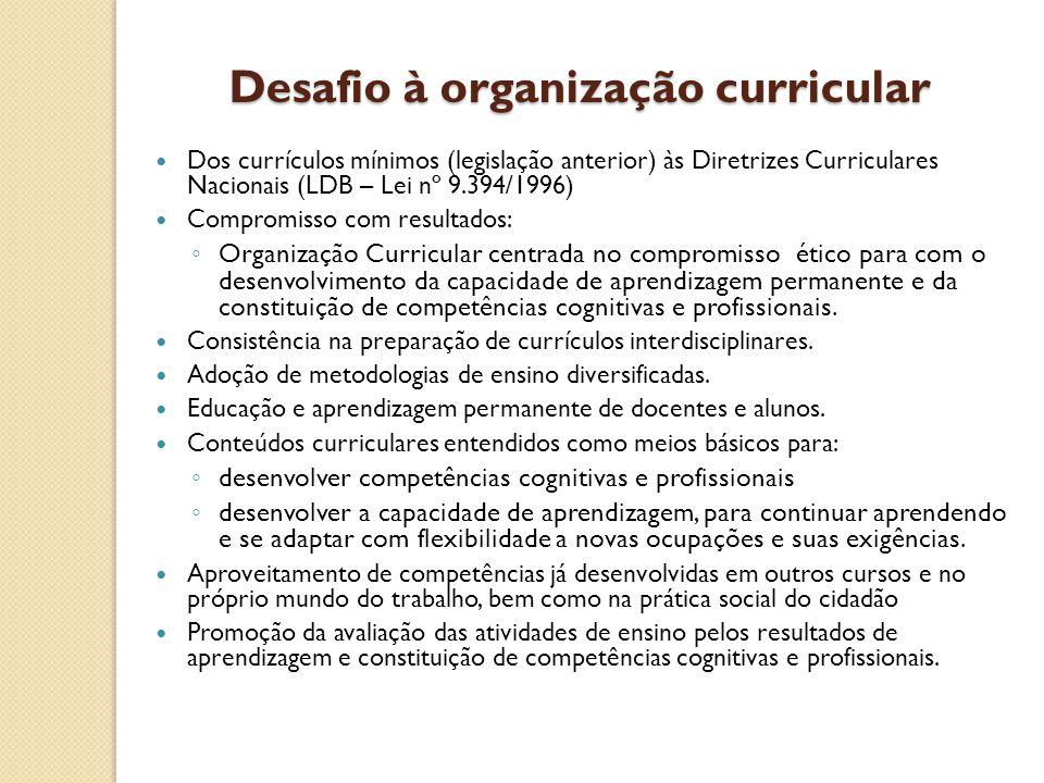 Desafio à organização curricular