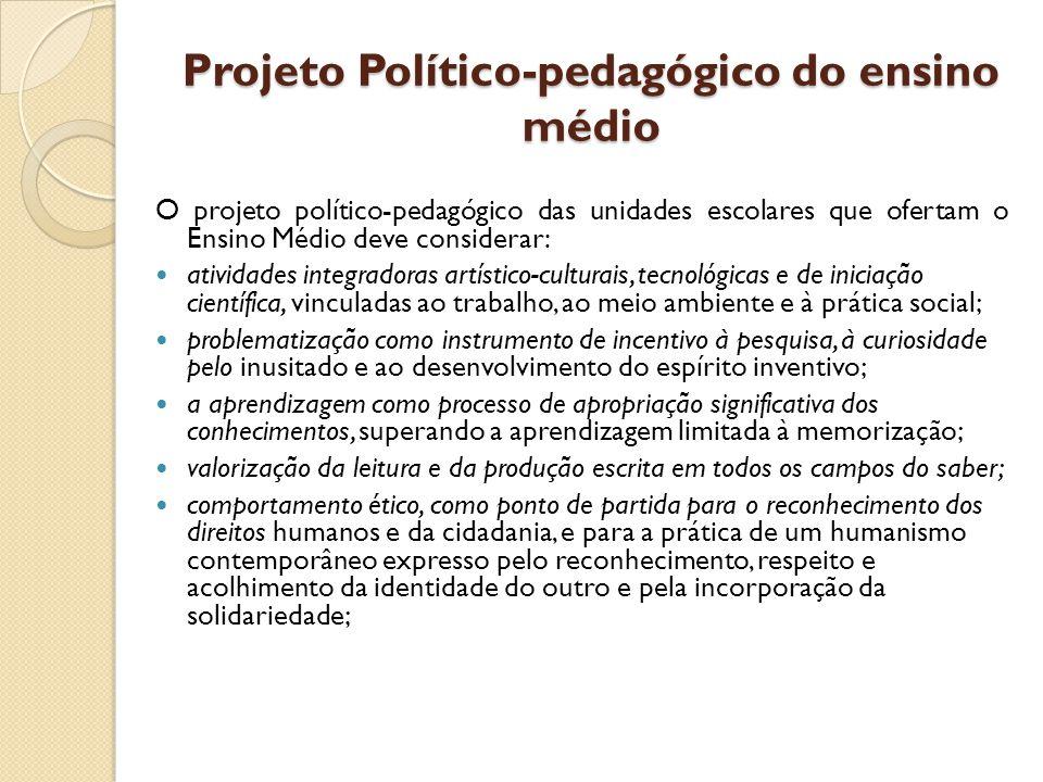 Projeto Político-pedagógico do ensino médio