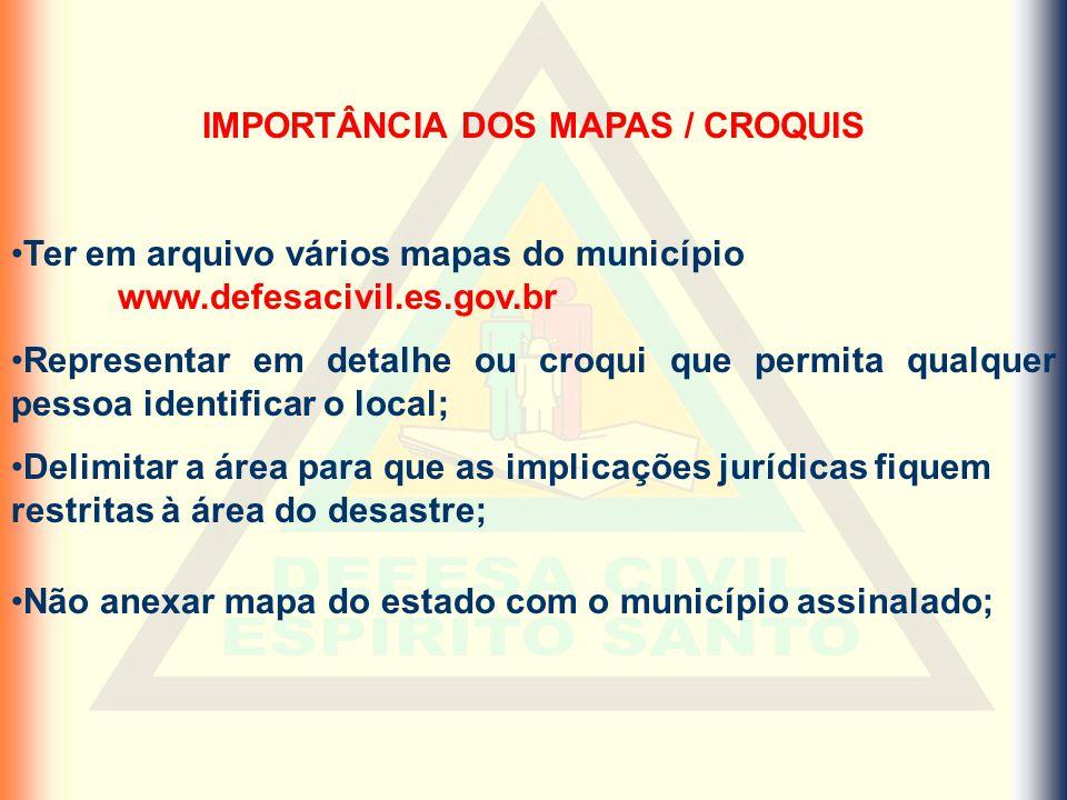 IMPORTÂNCIA DOS MAPAS / CROQUIS