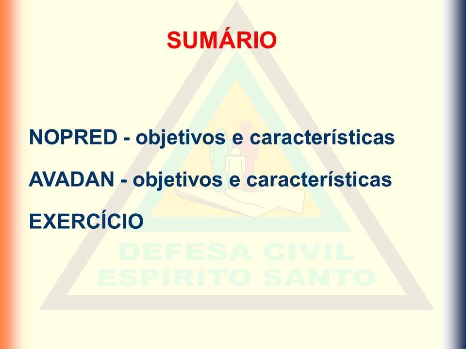 SUMÁRIO NOPRED - objetivos e características