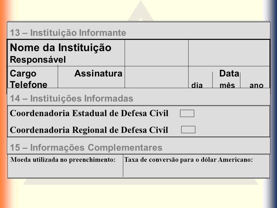 Nome da Instituição Responsável