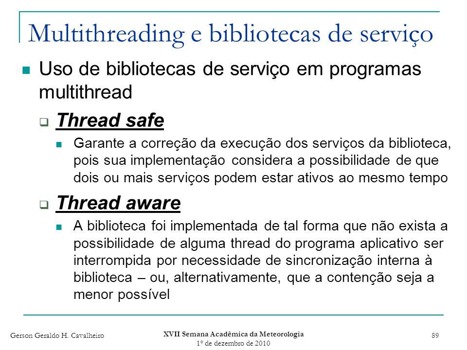 Multithreading e bibliotecas de serviço
