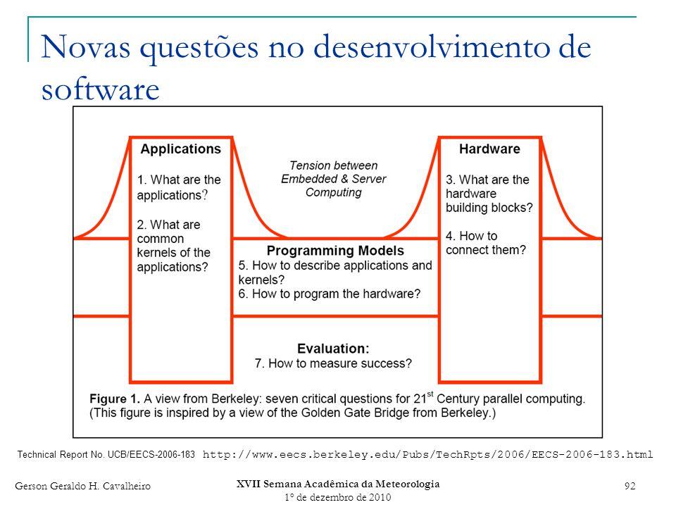 Novas questões no desenvolvimento de software