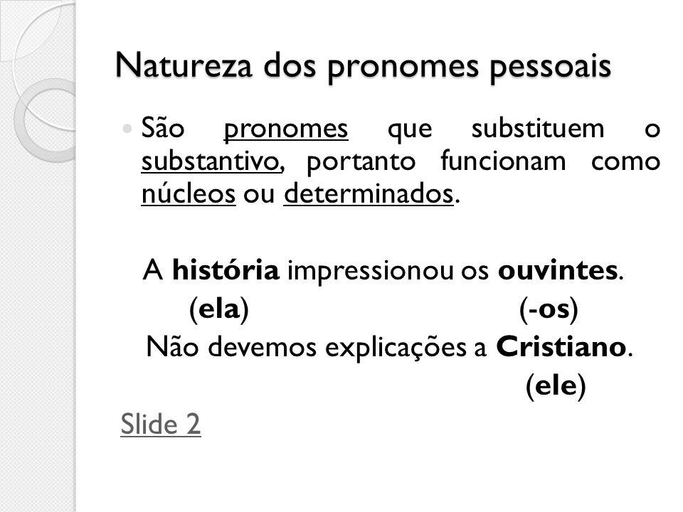 Natureza dos pronomes pessoais