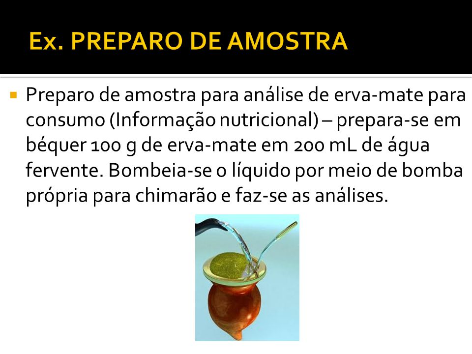 Ex. PREPARO DE AMOSTRA