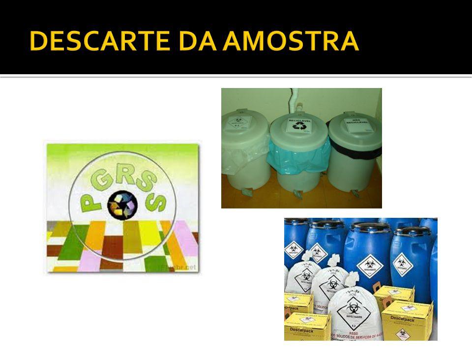 DESCARTE DA AMOSTRA
