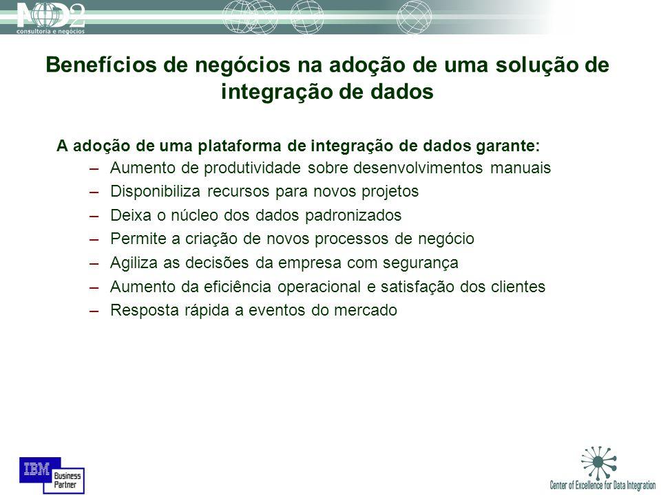 Benefícios de negócios na adoção de uma solução de integração de dados