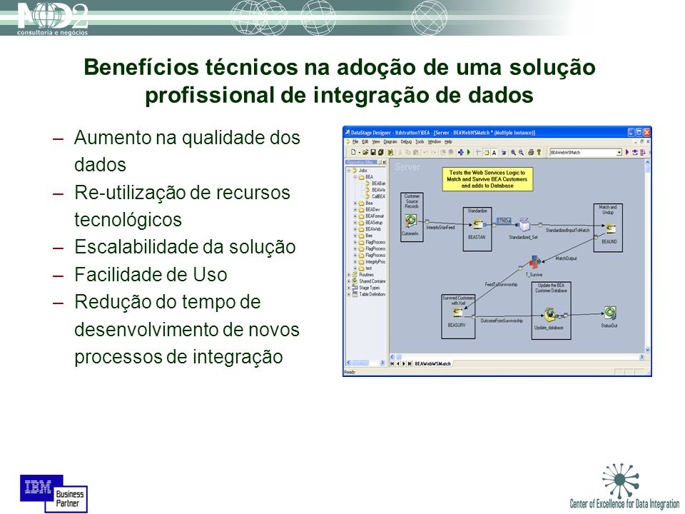 Benefícios técnicos na adoção de uma solução profissional de integração de dados