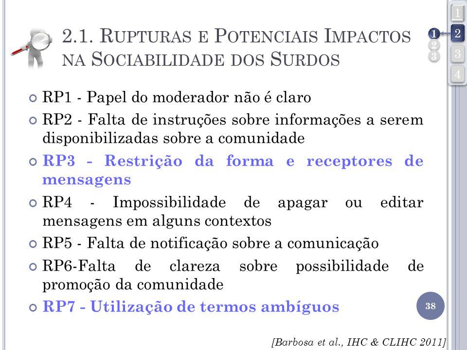 2.1. Rupturas e Potenciais Impactos na Sociabilidade dos Surdos