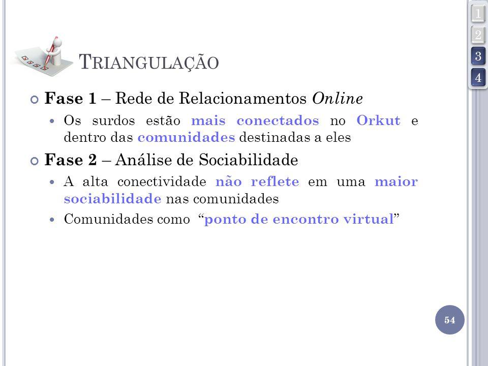 Triangulação Fase 1 – Rede de Relacionamentos Online
