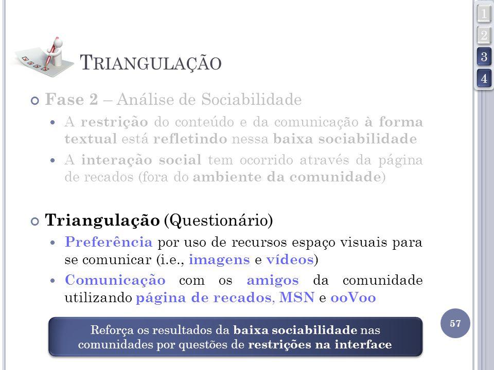 Triangulação Fase 2 – Análise de Sociabilidade