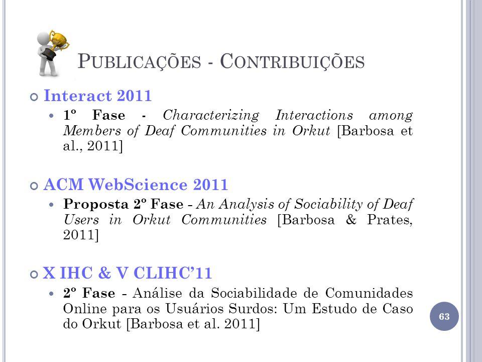 Publicações - Contribuições