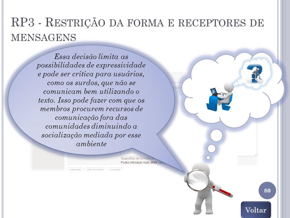 RP3 - Restrição da forma e receptores de mensagens