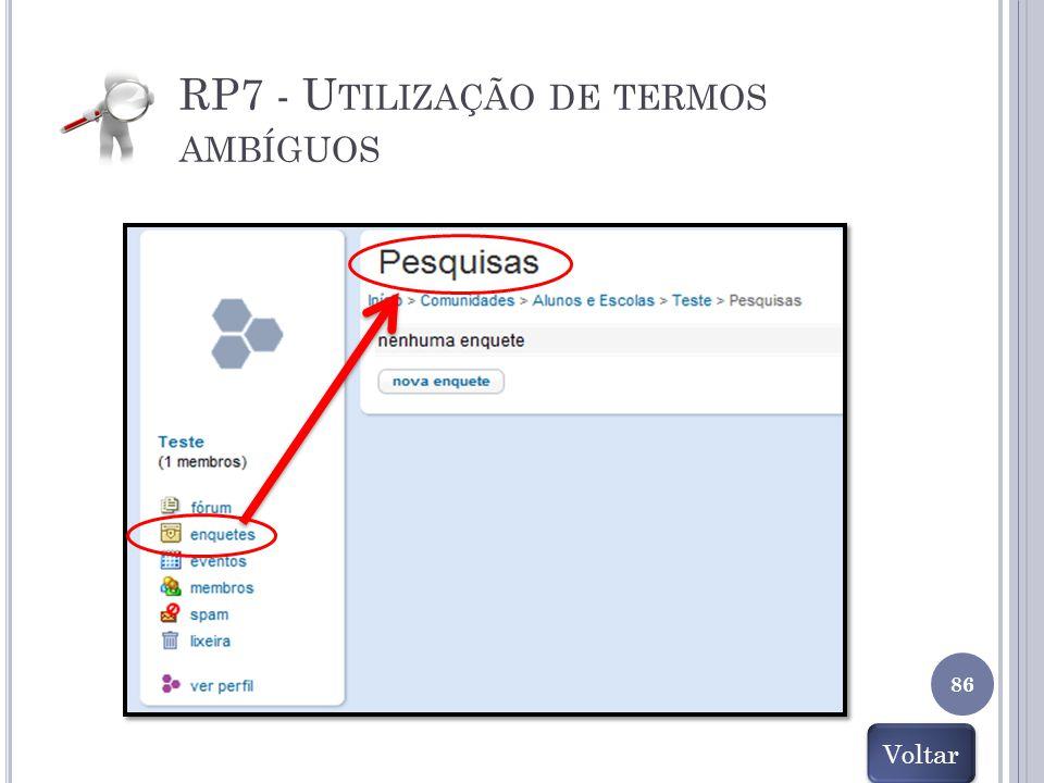 RP7 - Utilização de termos ambíguos