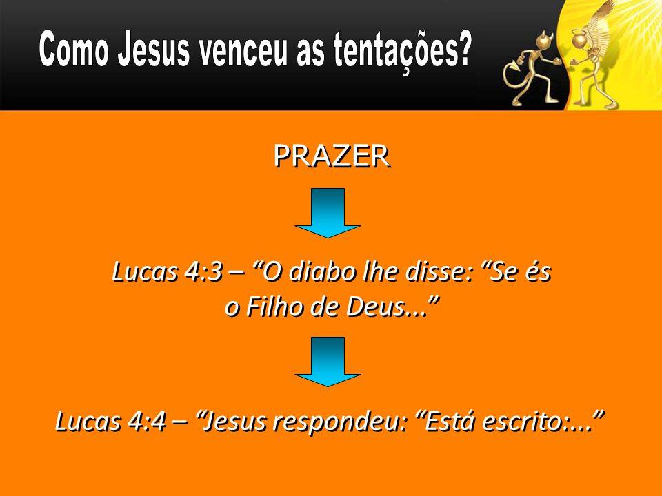 Como Jesus venceu as tentações