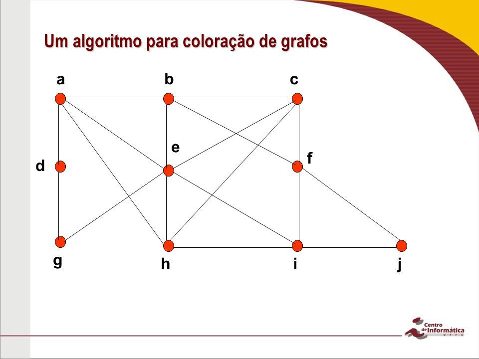 Um algoritmo para coloração de grafos