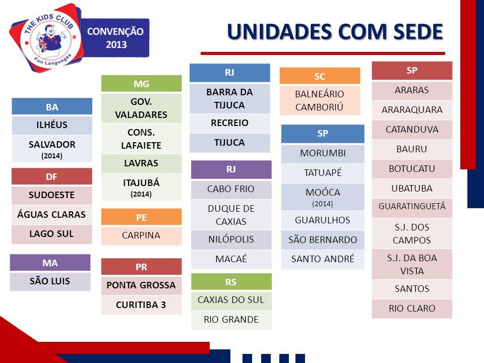 UNIDADES COM SEDE SP RJ SC MG BARRA DA TIJUCA ARARAS
