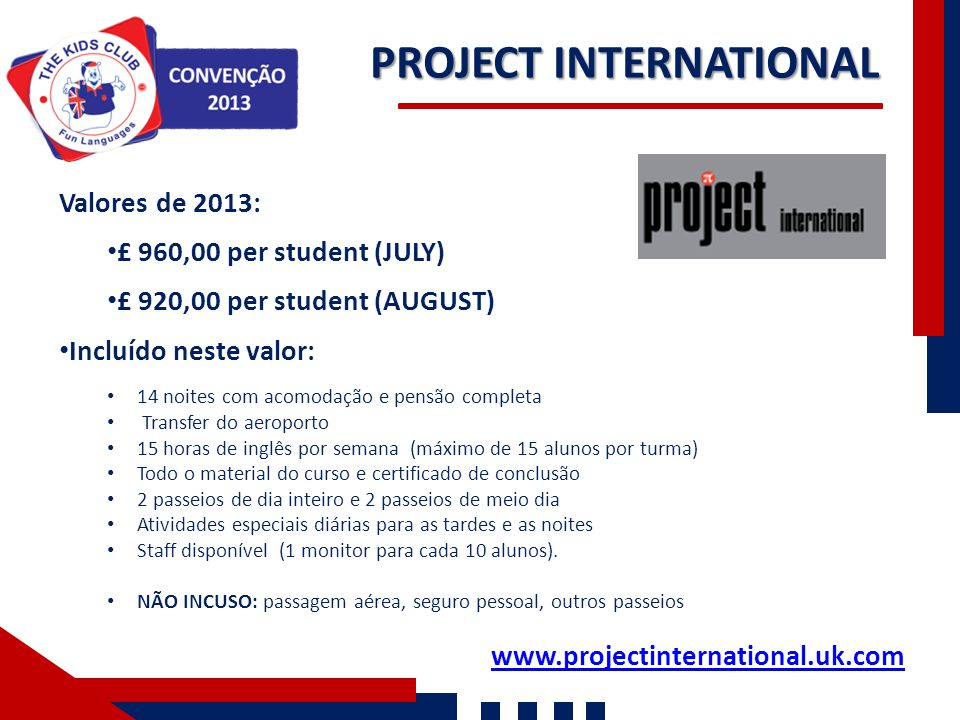 PROJECT INTERNATIONAL