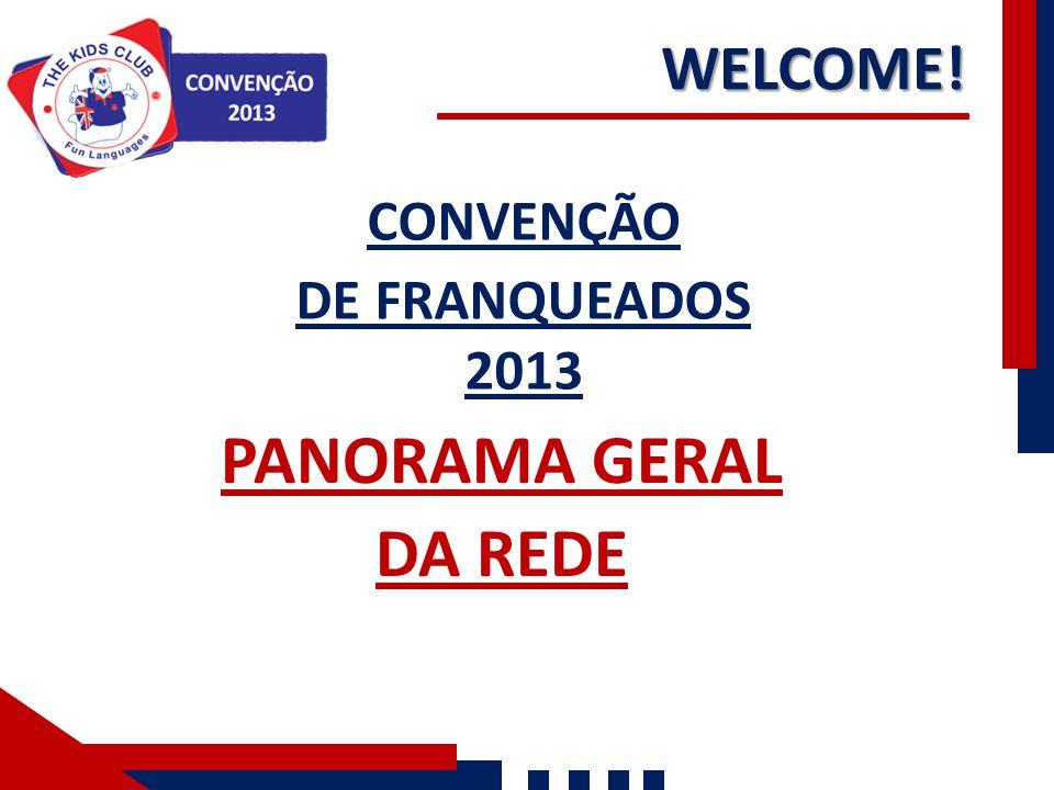 WELCOME! CONVENÇÃO DE FRANQUEADOS 2013 PANORAMA GERAL DA REDE
