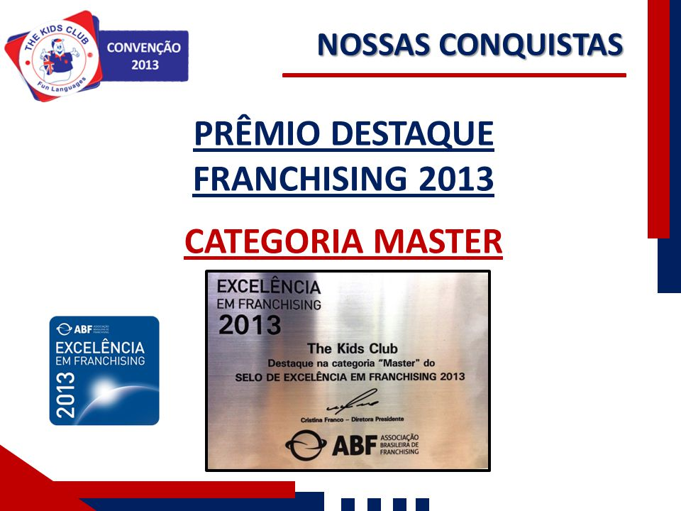 PRÊMIO DESTAQUE FRANCHISING 2013