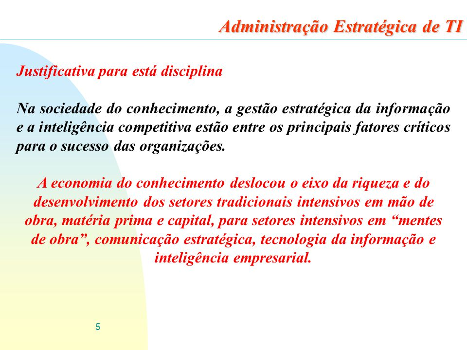 Administração Estratégica de TI