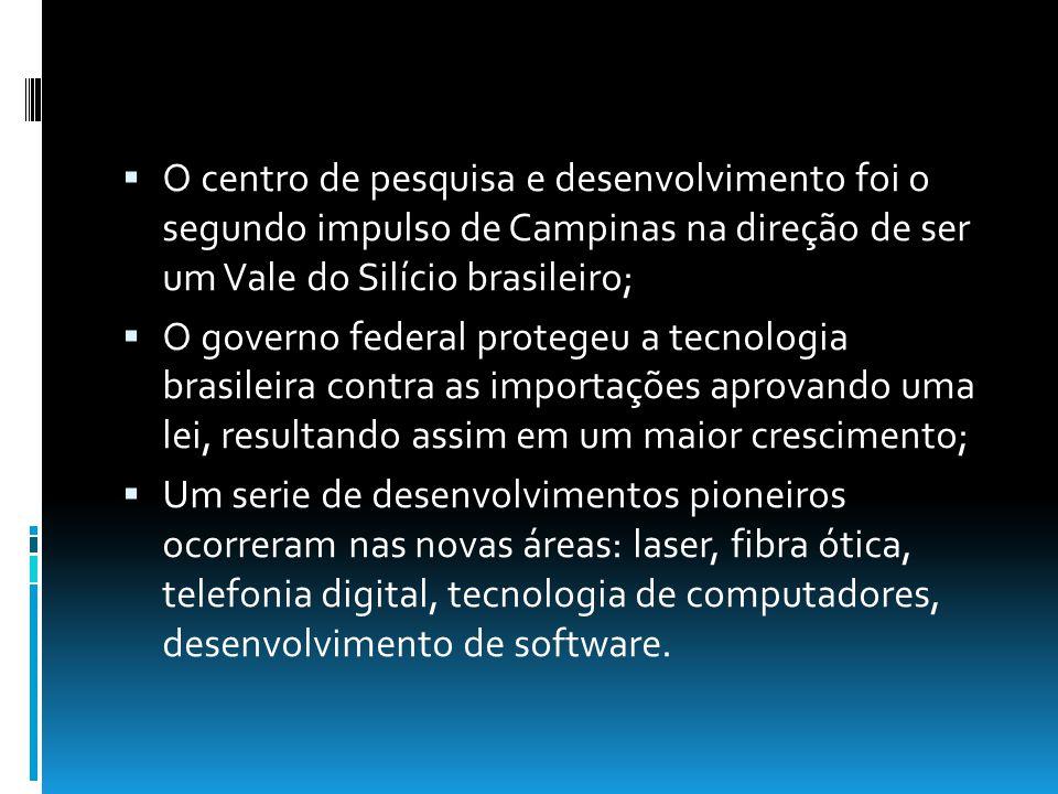 O centro de pesquisa e desenvolvimento foi o segundo impulso de Campinas na direção de ser um Vale do Silício brasileiro;