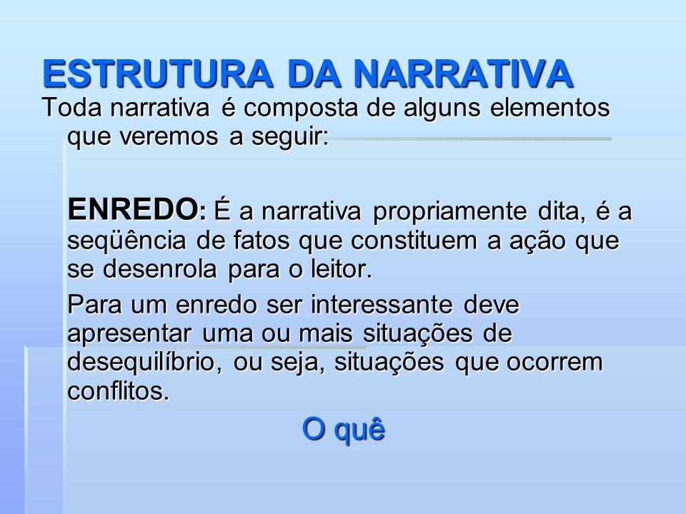 ESTRUTURA DA NARRATIVA