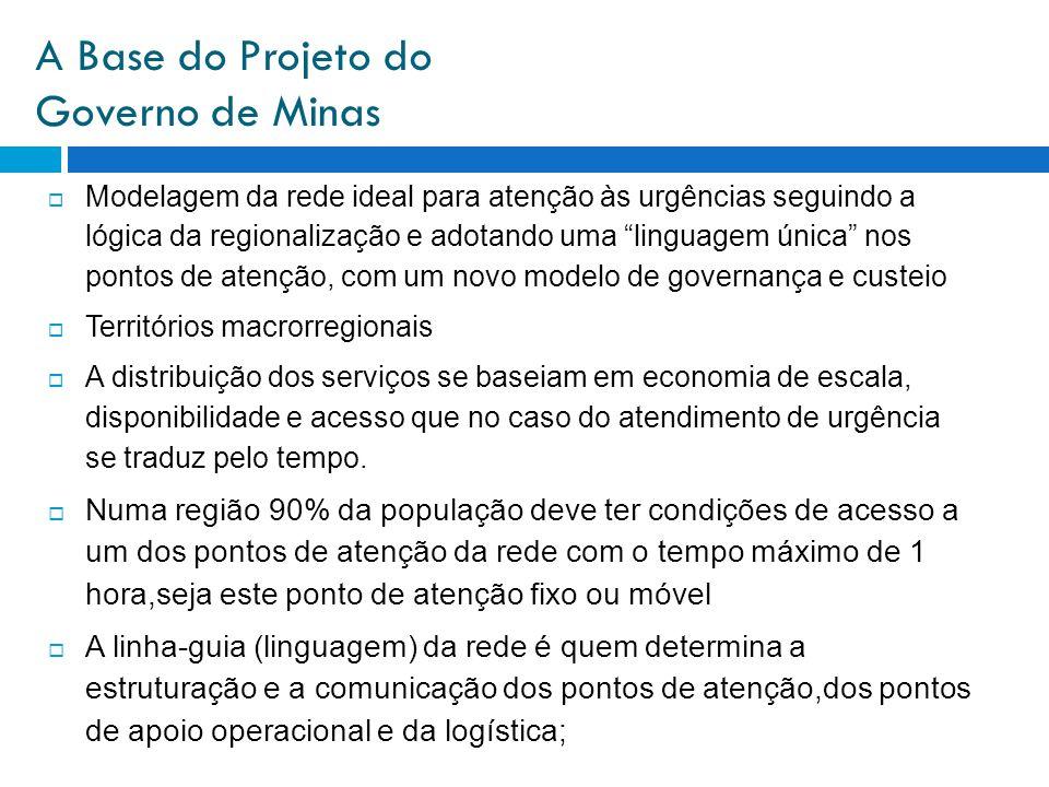 A Base do Projeto do Governo de Minas