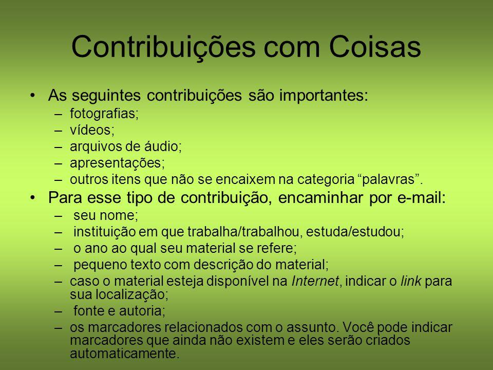Contribuições com Coisas