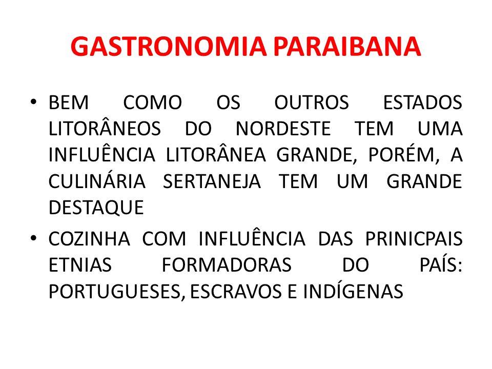 GASTRONOMIA PARAIBANA