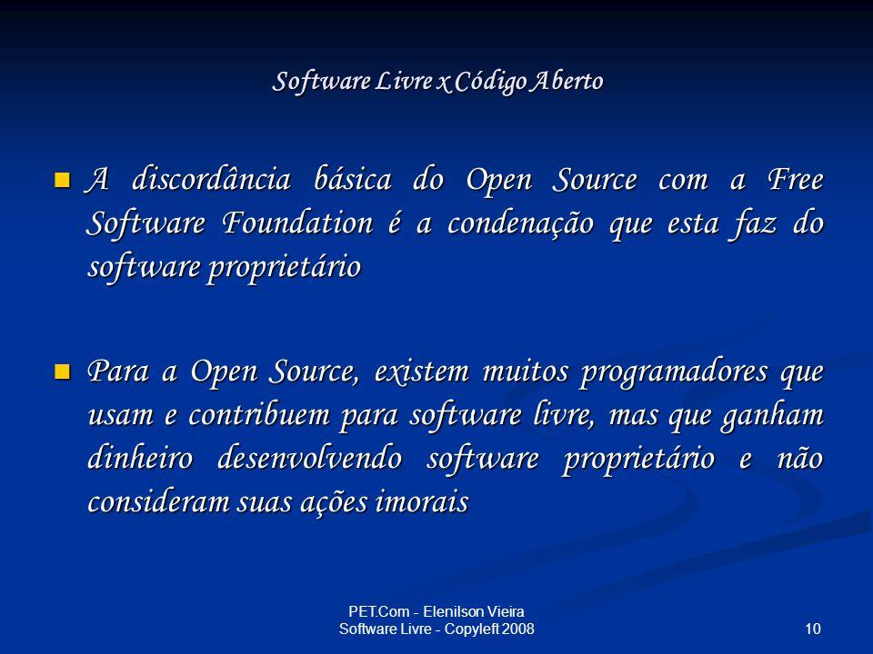 Software Livre x Código Aberto