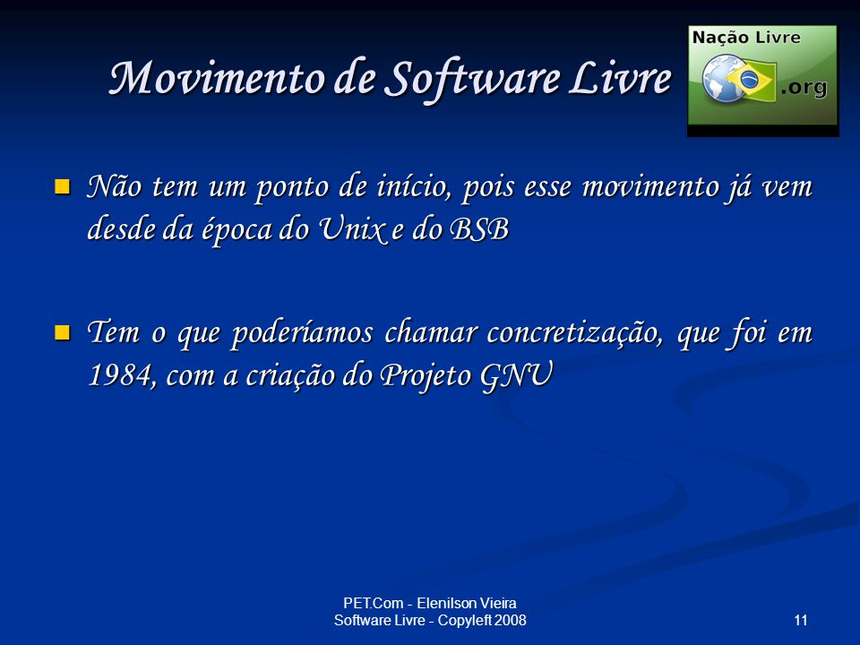 Movimento de Software Livre