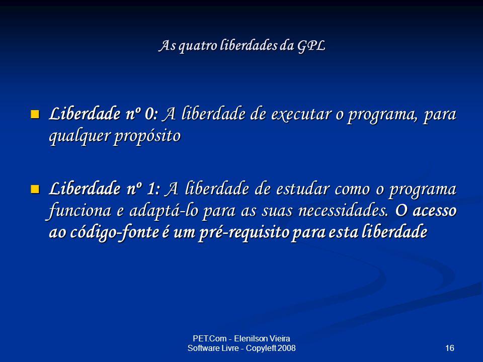 As quatro liberdades da GPL