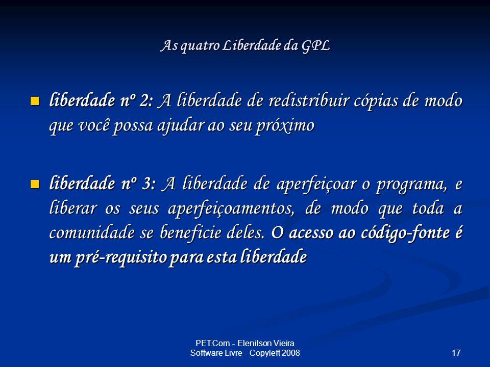 As quatro Liberdade da GPL