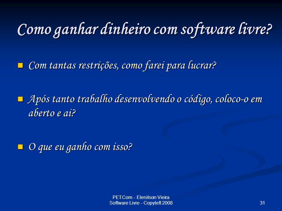 Como ganhar dinheiro com software livre